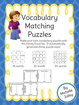 Vocabulary Matching Puzzle