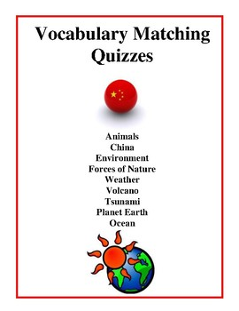 Vocabulary Matching Quizzes and Worksheets