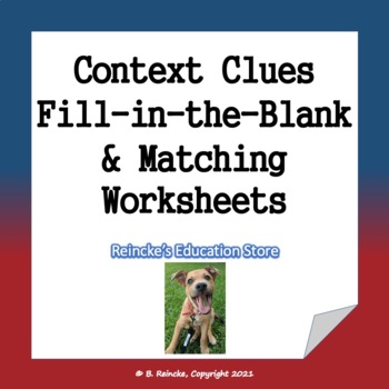 Vocabulary Matching/Fill-in-the-Blank Worksheets
