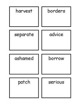 Vocabulary Matching_Harvest Birds