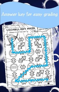 Vocabulary Maze Matter and Energy (Set 2) 8th Grade