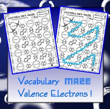 Vocabulary Maze Valence Electrons