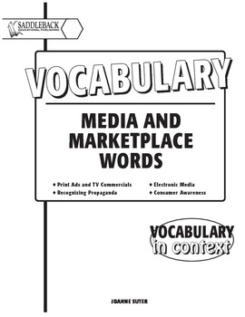 Vocabulary Media and Marketplace words