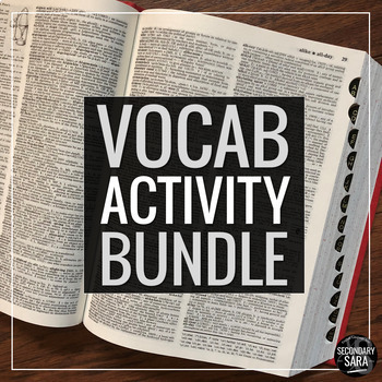 Vocabulary Epic Bundle: A Year of Learning & Writing for S