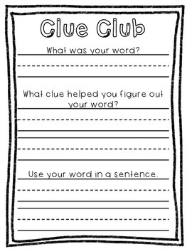 Vocabulary Mega Pack! Games, Response Sheets, and a Home-School Connection!