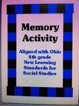 Vocabulary Memory Activity for Ohio Social Studies