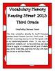 Vocabulary Memory - Reading Street 2013 - 3rd Grade - Unit 6