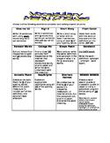 Vocabulary Menu Choice Board