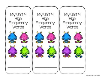 Fun Vocabulary Mini Books {Scott Foresman Reading Street ~ Grade 1, Unit 4}