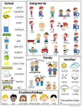 Vocabulary Mini Office - Australian Version - Picture Dictionary