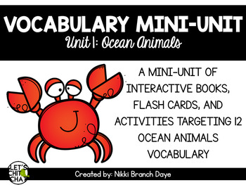 Vocabulary Mini-Unit 1: Ocean Animals
