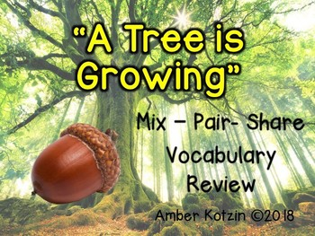 Vocabulary Mix-Pair-Share Game: A Tree is Growing Journeys 3rd Grade