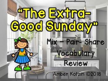 Vocabulary Mix-Pair-Share Game: The Extra-Good Sunday Journeys 3rd Grade