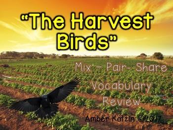 Vocabulary Mix-Pair-Share Game: The Harvest Birds Journeys 3rd Grade