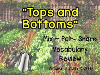 Vocabulary Mix-Pair-Share Game: Tops and Bottoms Journeys 3rd Grade