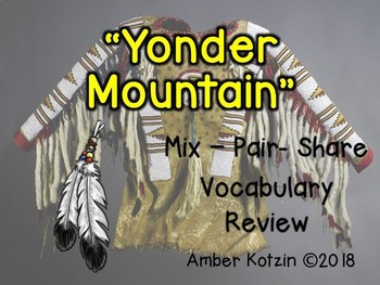 Vocabulary Mix-Pair-Share Game: Yonder Mountain Journeys 3rd Grade