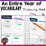 Vocabulary Morning Work, Vocabulary Practice Activities fo