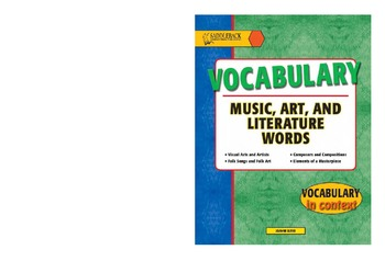 Vocabulary Music, Art, and Literature