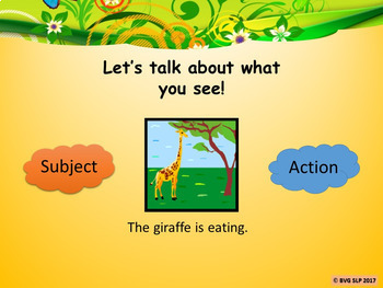 Vocabulary Naming and Simple Sentences Animated Images Telepractice Digital