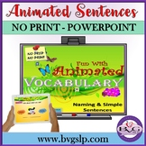 Vocabulary Naming and Simple Sentences Animated Images Tel