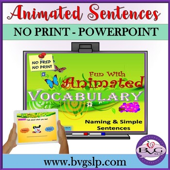 Vocabulary Naming and Simple Sentences Animated Images