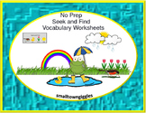 Distance Learning Vocabulary Alphabet, Recognition Worksheets Prek, K,Resources