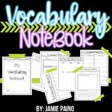 *Vocabulary Notebook*