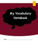 Vocabulary Notebook