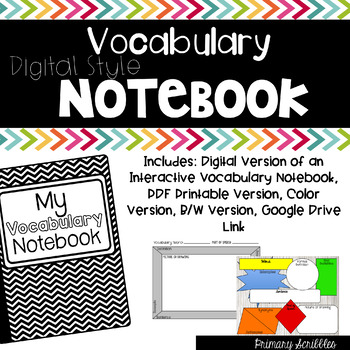 Vocabulary Notebook (Digital Version Too)