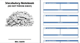 Vocabulary Notebook Template