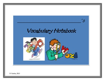 Vocabulary Notebook & Word Graphs