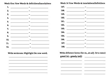 Vocabulary Notebook (collated)