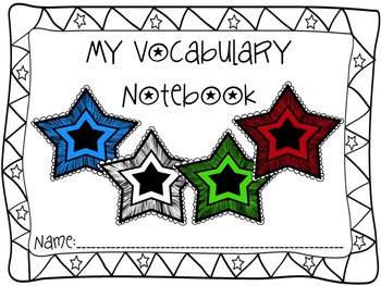Vocabulary Notebook for ANY Subject
