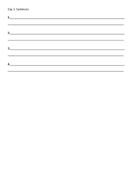 Vocabulary Notes Template