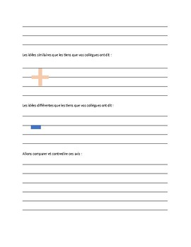 Vocabulary Notes sheet with extension activities: transition words