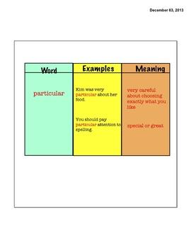 Vocabulary- Open Court 3rd Grade Unit 2 Lesson 1-6