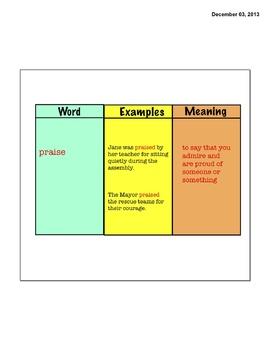 Vocabulary- Open Court 3rd Grade Unit 3 Lesson 1-6