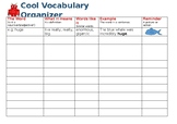 Vocabulary Organiser and Look, Cover, Write Check Spelling Sheet
