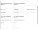 Vocabulary Organizer (Brochure)