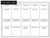 Vocabulary Organizer Chart