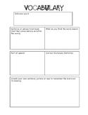 Vocabulary Organizer Idea