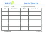 Vocabulary Organizer- Use Context Clues