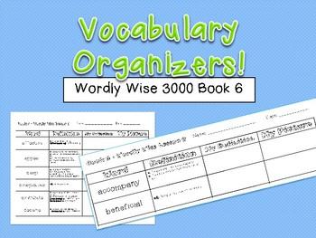 Vocabulary Organizer - Wordly Wise 3000 Book 6