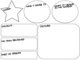 Vocabulary Organizer - for use with reading assignment