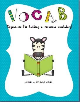 Vocabulary Organizers