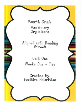 Vocabulary Organizers for all Units Aligned with Reading Street