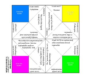 Vocabulary Origami