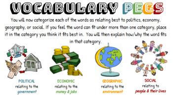 Vocabulary PEGS Sort