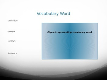 Vocabulary PPT Template
