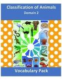 Vocabulary Pack Classification of Animals - Domain 2 CKLA BUNDLE
